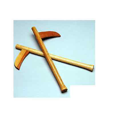 Wooden Bladed Kamas Martial Arts Weapons Karate Gear Training Practice - Pair