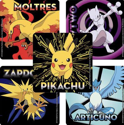 25 Pokemon Pikachu Legendary Stickers Party Favor Zapdos Moltres Mewtwo Articuno](Pokemon Party Favor)