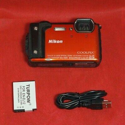 Nikon COOLPIX W300 16.0-Megapixel Waterproof Digital Camera - Orange