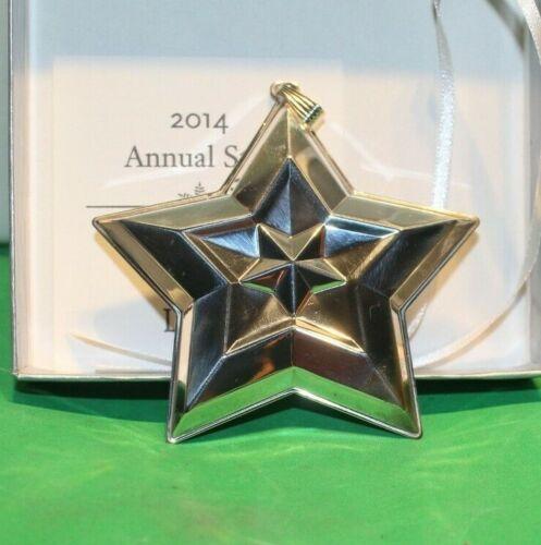 2014 Lunt Annual Star Sterling 20th Edition Ornament Box