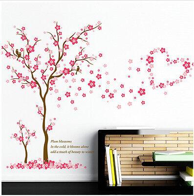 Wandtattoo Kinderzimmer pink rosa Herzen Liebe Baby Mädchen Wandsticker Baum Ast ()