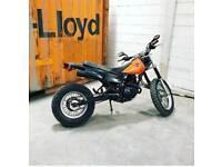 Yamaha trailway 125 w/ extended swingarm