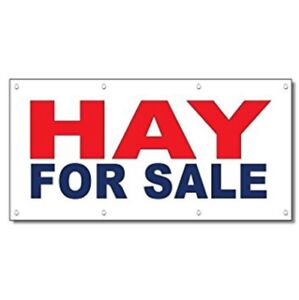 Round hay bales for sale.