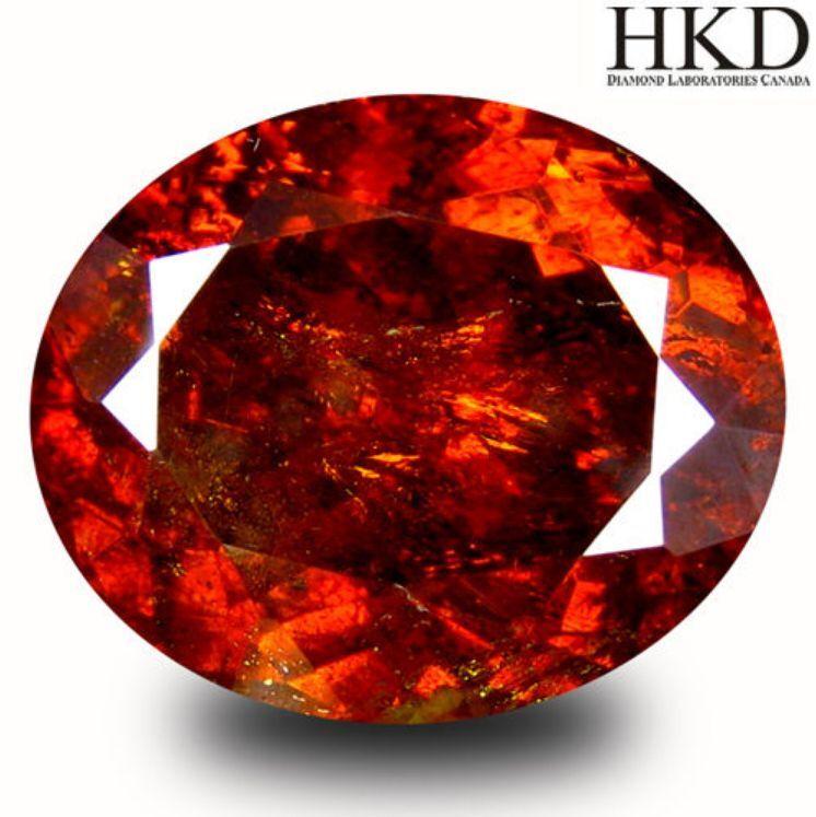 13.50 cts HKD-Certified Natural Oval-cut Yellowish-Orange VS Sphalerite (Spain)