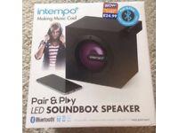 LED Soundbox light up Speaker - bluetooth pair and play