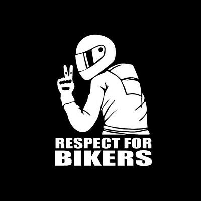 [Lot de 3] Autocollant Stickers Voiture Moto 'Respect For Bikers' 3 Couleurs
