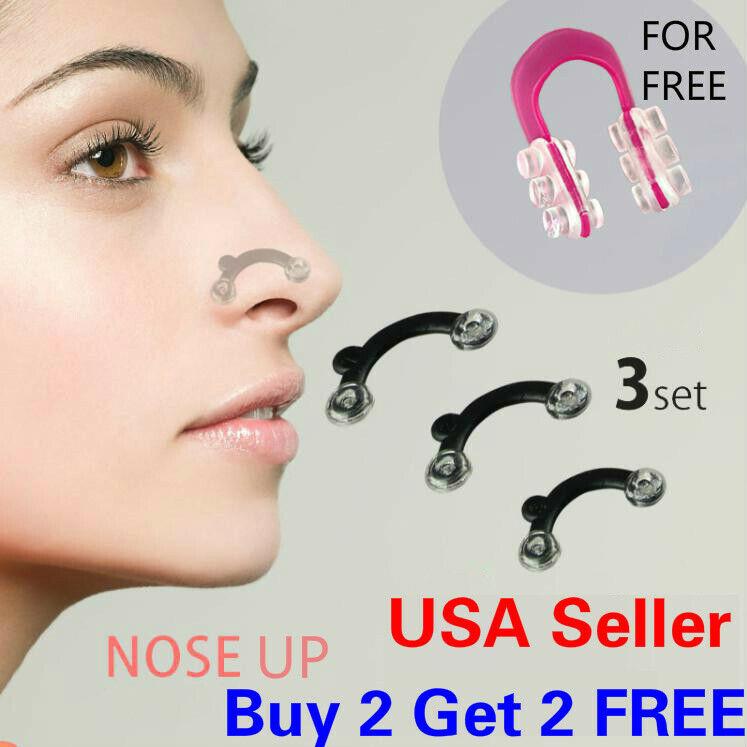 7 Pcs Nose Up Lifting Shaping Clip Set Clipper Shaper Beauty Tool 3 Size