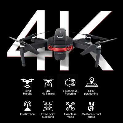 4K HD Camera 5G WIFI FPV GPS Folding Drone Wide Angle RC Quadcopter Follow Me