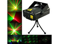 New Red Green Mini LED Stage Laser Light Projector Strobe Flash 4 Patterns & Dots, DJ Disco Party