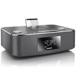 Phillips DC390/37 Dual Docking 30-Pin iPhone/iPad/iPod Alarm Clock Speaker Dock