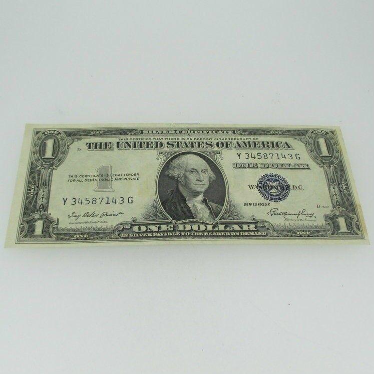 1935 E Silver Certificate United States 1 Dollar Bill One Dollar 600713