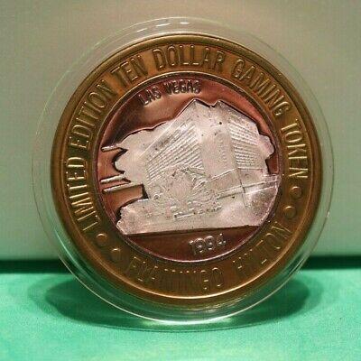 Casino Strike Flamingo Las Vegas $10 Token Silver 1994