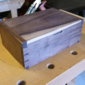 Hand crafted wooden keepsake boxes.