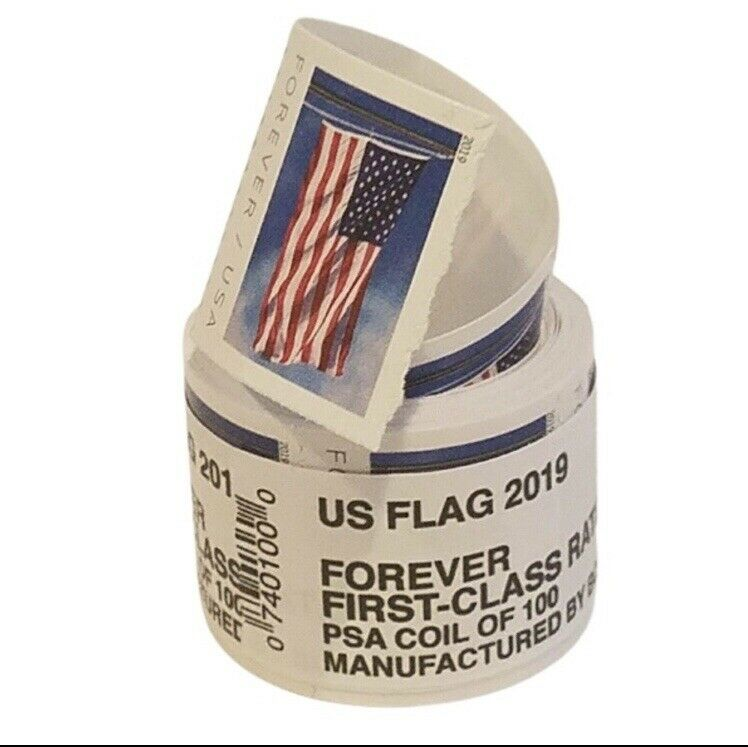 2019 USPS Forever Postage Stamps Sealed Coil/Roll Of 100 $55 Value