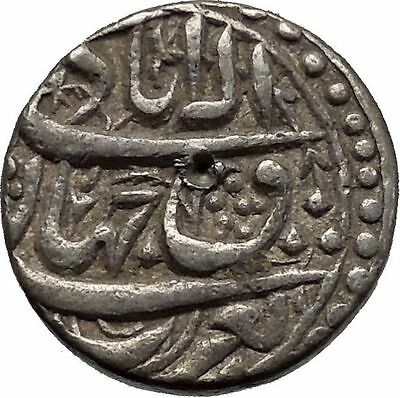 1605AD Mughal Empire of India Large Antique Islamic Muslim Silver Coin i44956