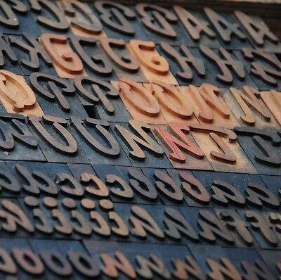 189 Letterpress Wood Printing Blocks 1.38 Tall Printers Alphabet Type Font Abc