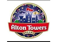 2x Alton Towers ticket very cheap