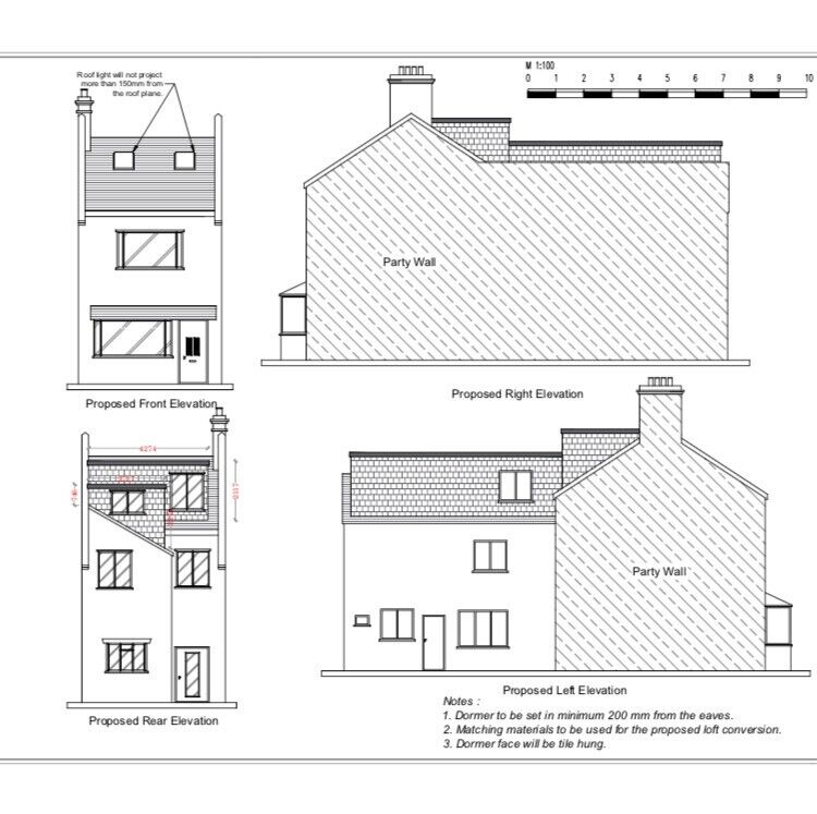 Architectural design and service includes build over drawings