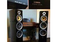 Yamaha amp and Tibo speakers
