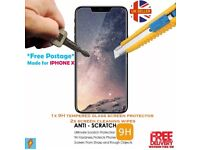 Iphone X tempered Glass screen protector For Apple Iphone X 9H glass