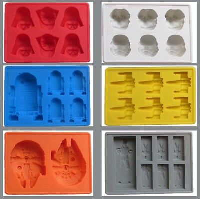 Silicone Star Wars Ice Maker Cube Tray Mold Candy Chocolate Mould DIY Han Solo