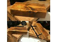 Wooden floating shelf