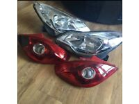 Vauxhall Corsa front and rear lights for European use