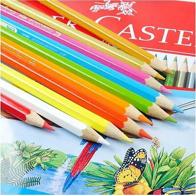 48 Colors Faber/Castell Colored Pencils Watercolor Art Drawing with SHARPENER (Faber Castell Colored Pencils)