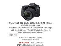 Cannon camera Eos 80d