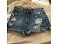 Asia Denim Ripped Shorts