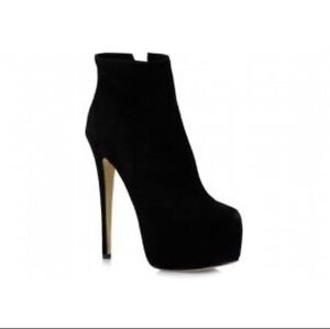 Tony Bianco TAYLEA Black Kid Suede platform Ankle boots Size 9 1/2 Elanora Gold Coast South Preview