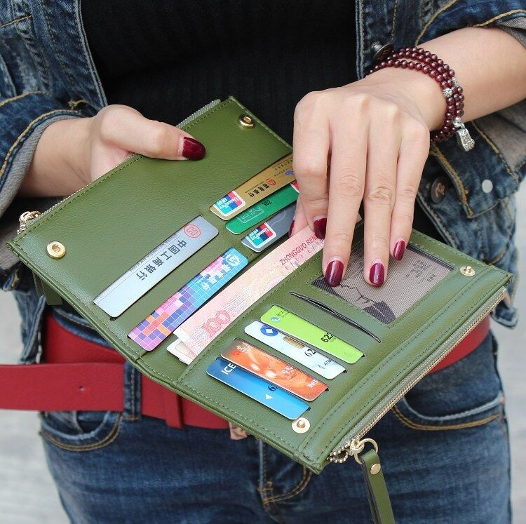 Fashion Women's Leather Clutch Purse Long Credit Card Holder