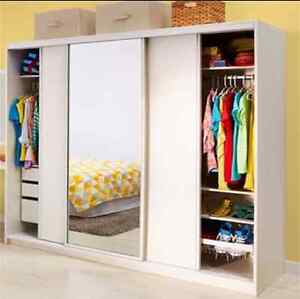 Spacious Freestanding Wardrobe - White Ramsgate Rockdale Area Preview