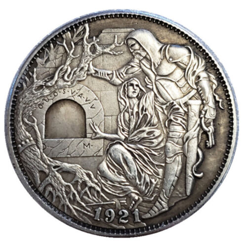 Hobo Nickel Coin 1921-P Morgan Dollar Hand Carved Coins
