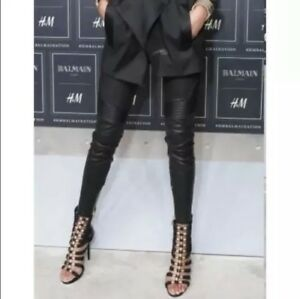 Balmain H&M leather pants size 2  with garment bag