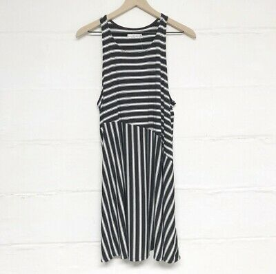 New With Tags Abercrombie And Fitch Black And White Striped Tank Dress Size Med