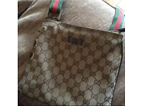 Genuine beige Gucci messenger bag manbag
