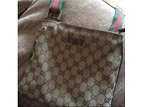 Genuine beige Gucci messenger bag manbag