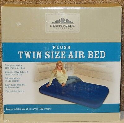 New! Northwest Territory Soft Plush Twin Size Air Bed Mattress Quick Inflation for sale  Shipping to Canada