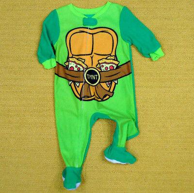 Teenage Mutant Ninja Turtles One Piece Sleeper Boys 9M Footie Pajamas Fleece