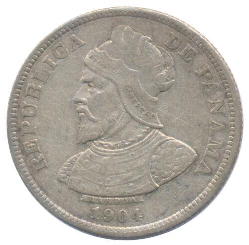 1904 Panama 25 Centesimos KM# 4 Choice Very Fine VF+ Condition