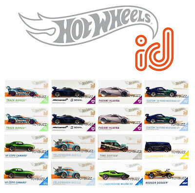 Hot Wheels 1:64 Id Car Series 2 VW Gulf Falken McLaren Pagani Case FXB02-999Q