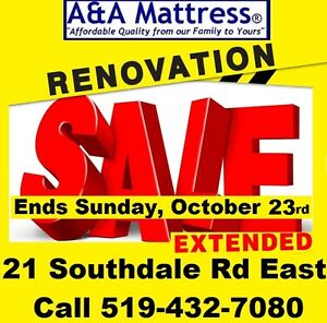 NEW FULL MATTRESS NO TAX RENOVATION SALE ENDS THIS SUNDAY OCT 23