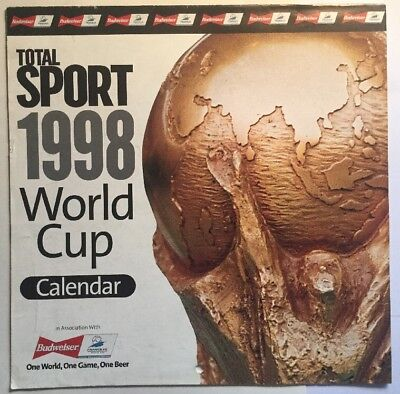 Total Sport Football World Cup Calendar 1998 World Cup Poster History