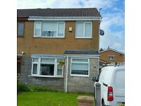 3 bed semi detached double glazed gas central heating detached garage attick room - NO CHAIN