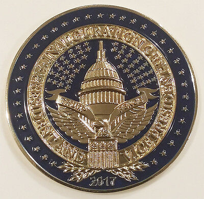 Us President Donald J Trump 2017 Inauguration Challenge Coin  Non Nypd