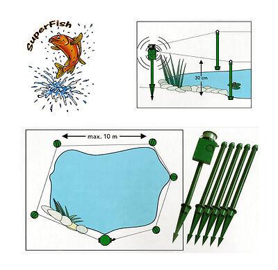 SUPERFISH Pond Alarm Reiherschutz Teichalarm Koischutz Reiherschreck Camping