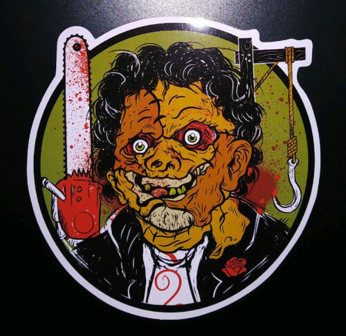 STICKER - art inspired by Leatherface Texas Chainsaw Massacre HORROR movie