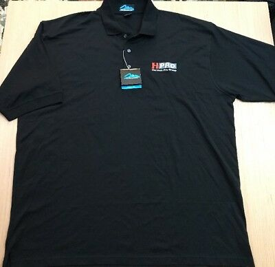 Tri Mountain Polo Shirt 2Xl Size Mens Black Golf Work Harman Pro Group Nwt D24