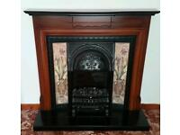 Electric Fireplace and Surround, unit, decorative, fan heater